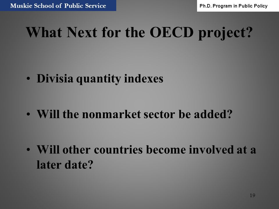 What Next for the OECD project