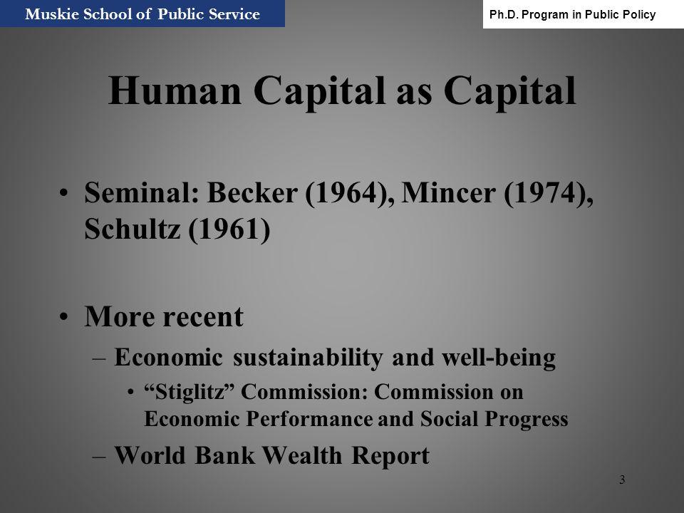 Human Capital as Capital