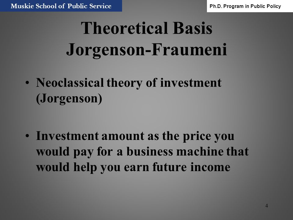 Theoretical Basis Jorgenson-Fraumeni