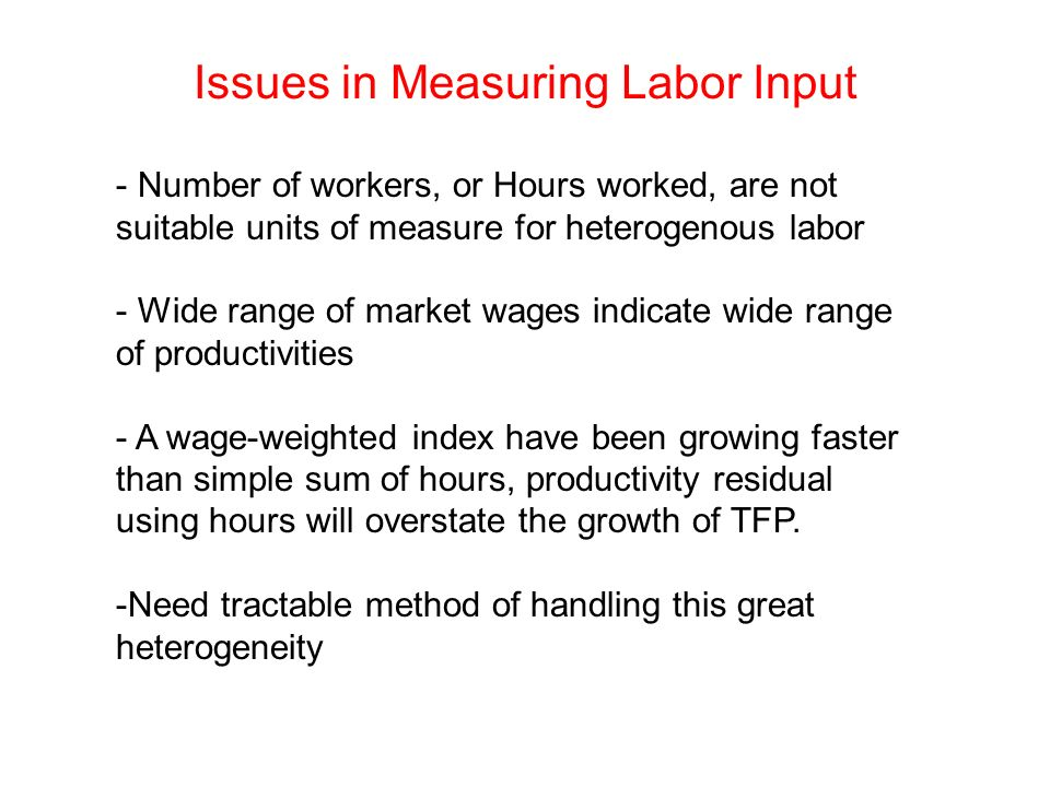 Issues in Measuring Labor Input