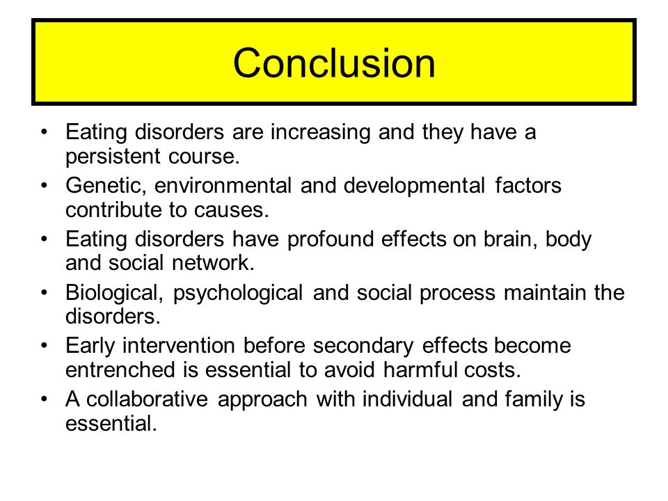 Eating disorders and a psychological factors