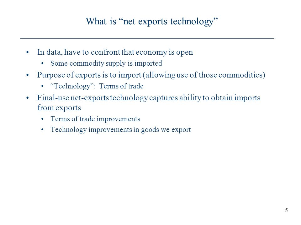 What is net exports technology