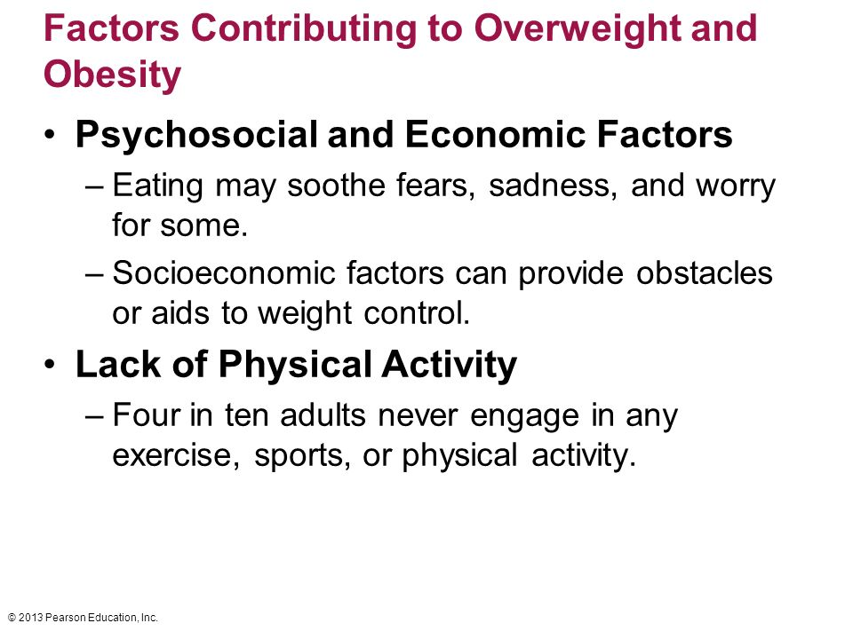 factors contributing to obesity and what can be done about it A number of factors contribute to this rising rate of childhood overweight  the  majority of children of all ages in the united states do not get enough physical.