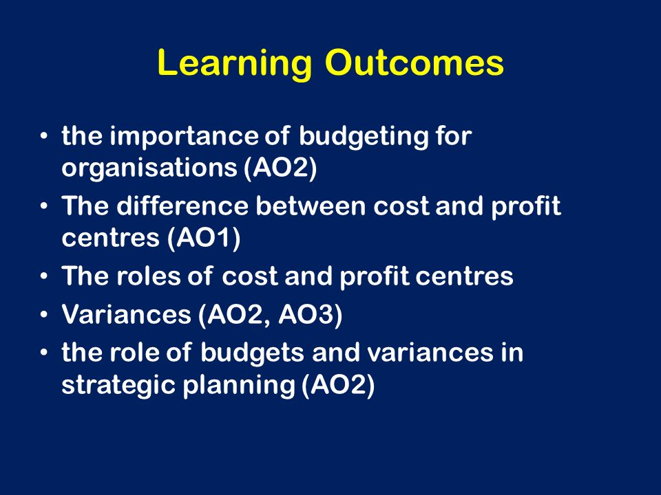 Outcome budget its relevance in the