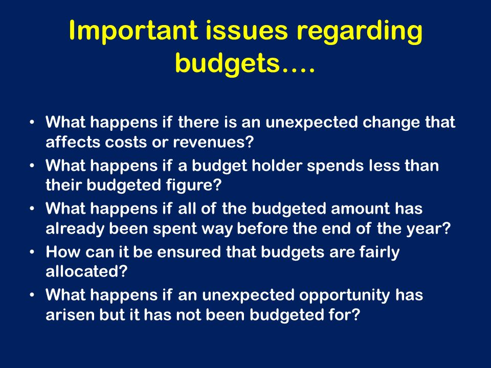 budgeting can be an important management Participation in the budgeting process is an important part of the  in addition,  technology can be crucial when creating and managing a budget.