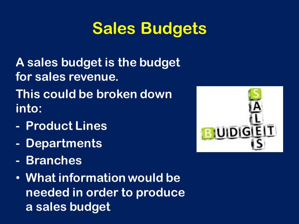 dealers incentive management and revenue budgeting Introduction to sales compensation - part ii  - middle sales management (district, region)  of revenue for sales rep #2) - target incentive or bonus (100 % of.