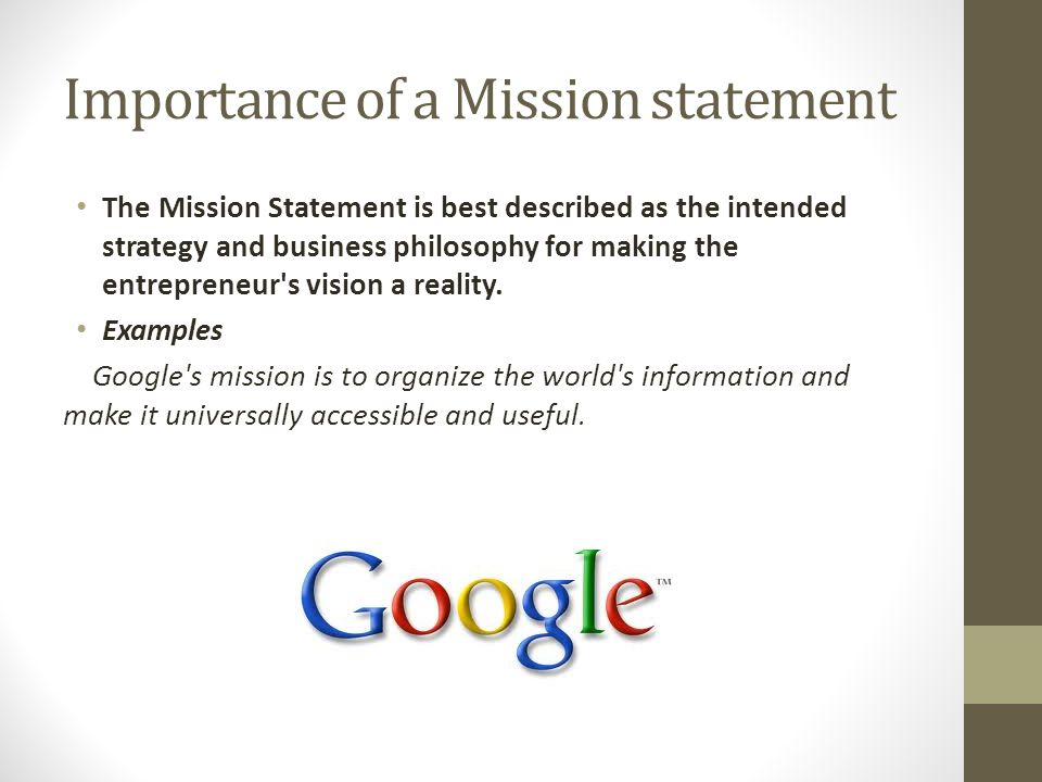 Mission Statement Importance  Resume Template Sample