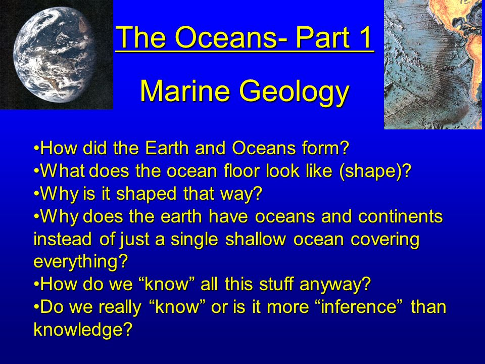 GEOLOGY THE OCEANS Get to web site from Illinois Compass - ppt ...