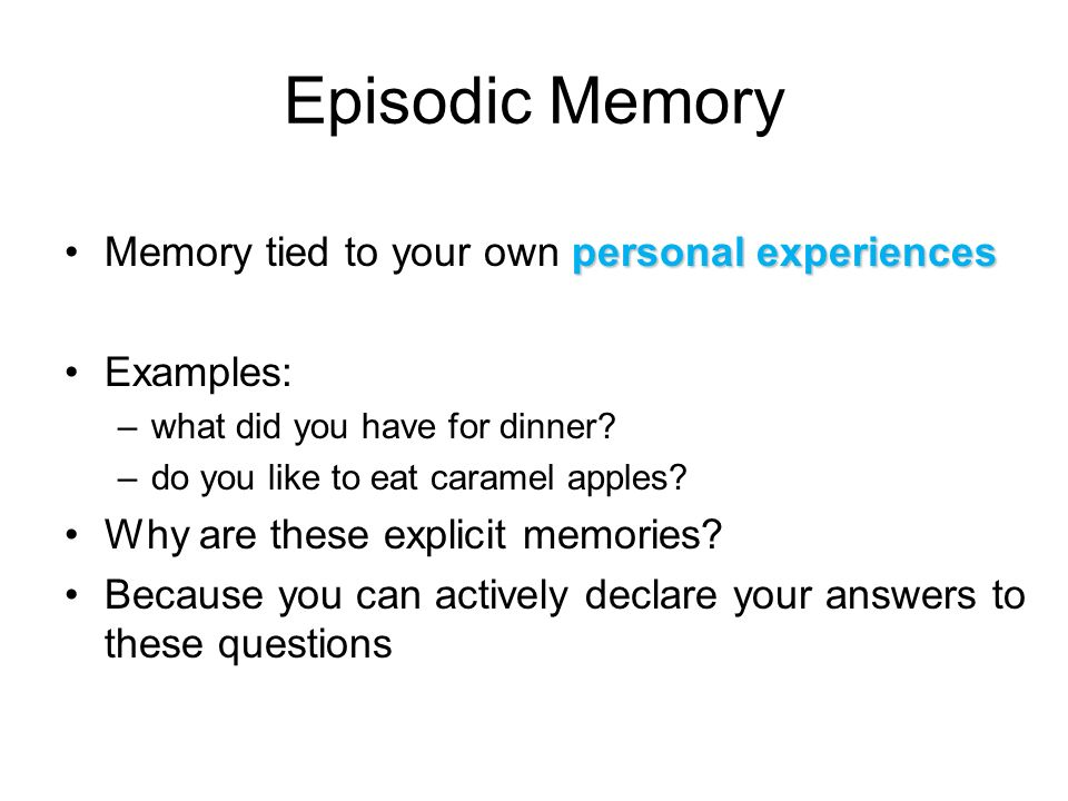 Semantic Memory: Definition & Examples