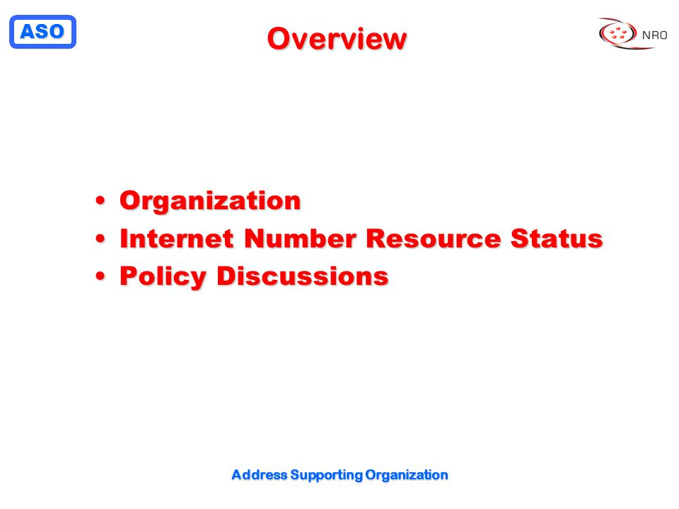 Address Supporting Organization