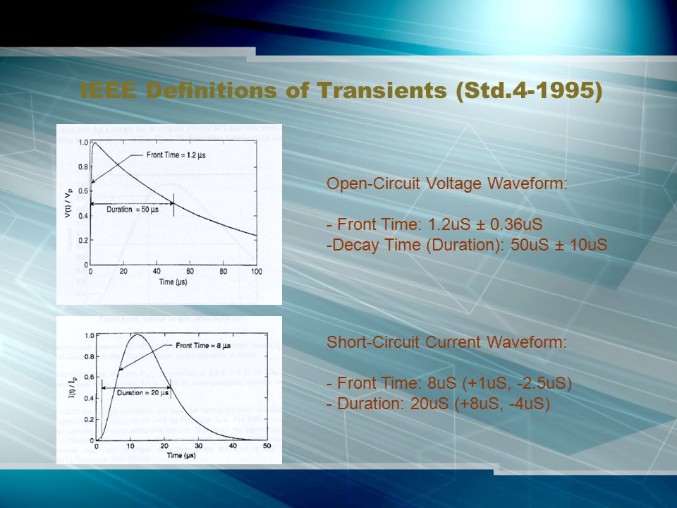 Surge protection devices ppt video online download for Ieee definition