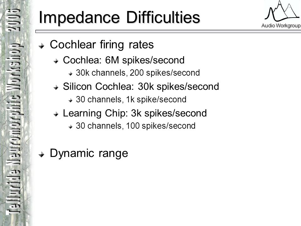 Impedance Difficulties