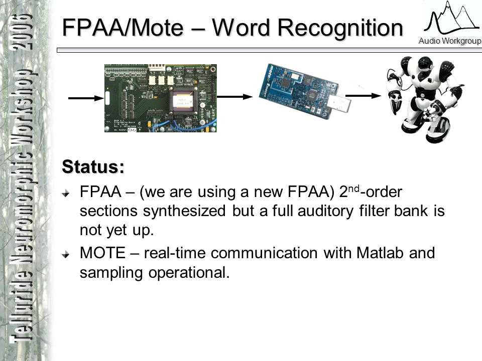 FPAA/Mote – Word Recognition