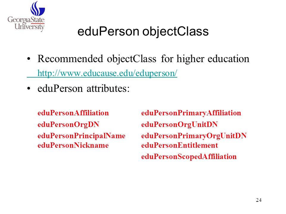 eduPerson objectClass