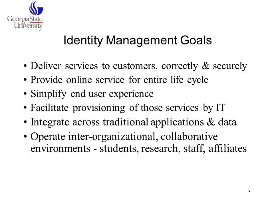 Identity Management Goals