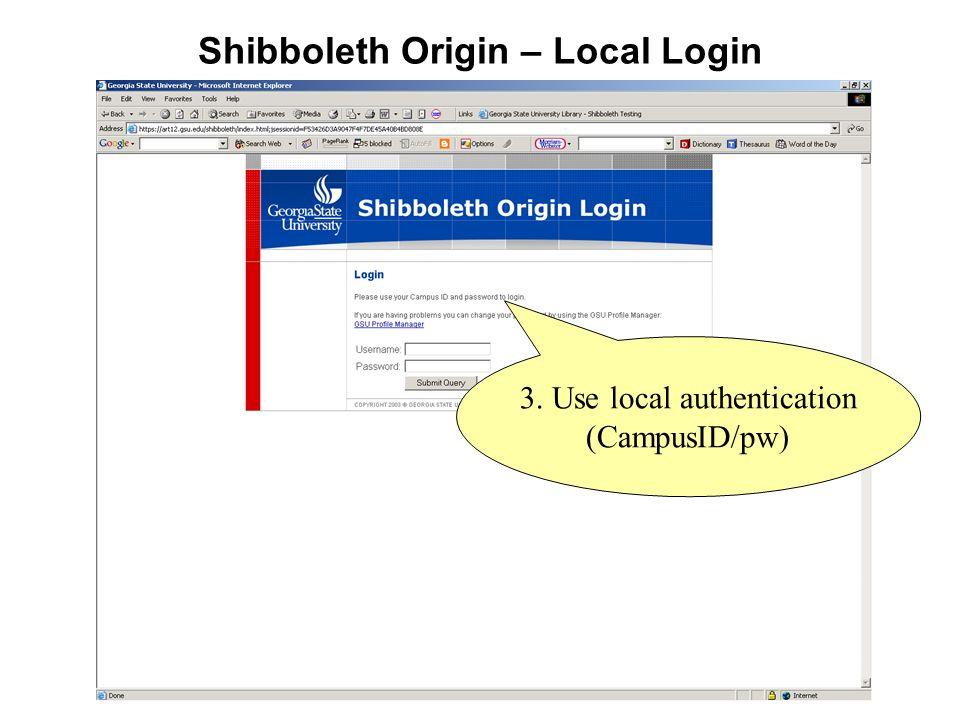 Shibboleth Origin – Local Login