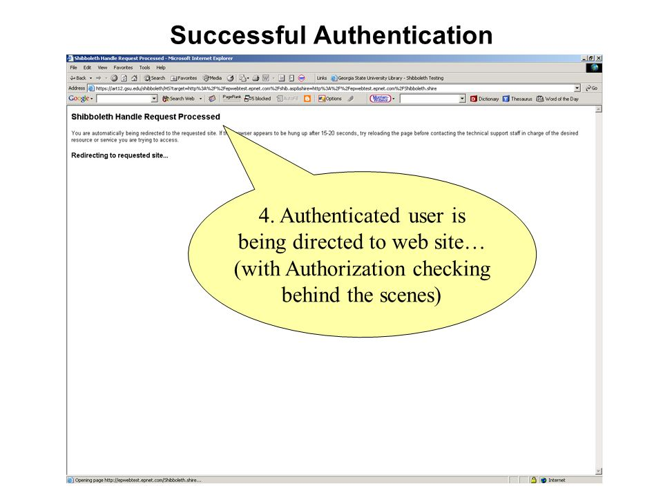 Successful Authentication