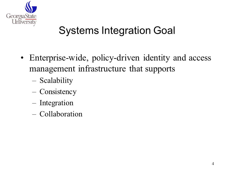 Systems Integration Goal