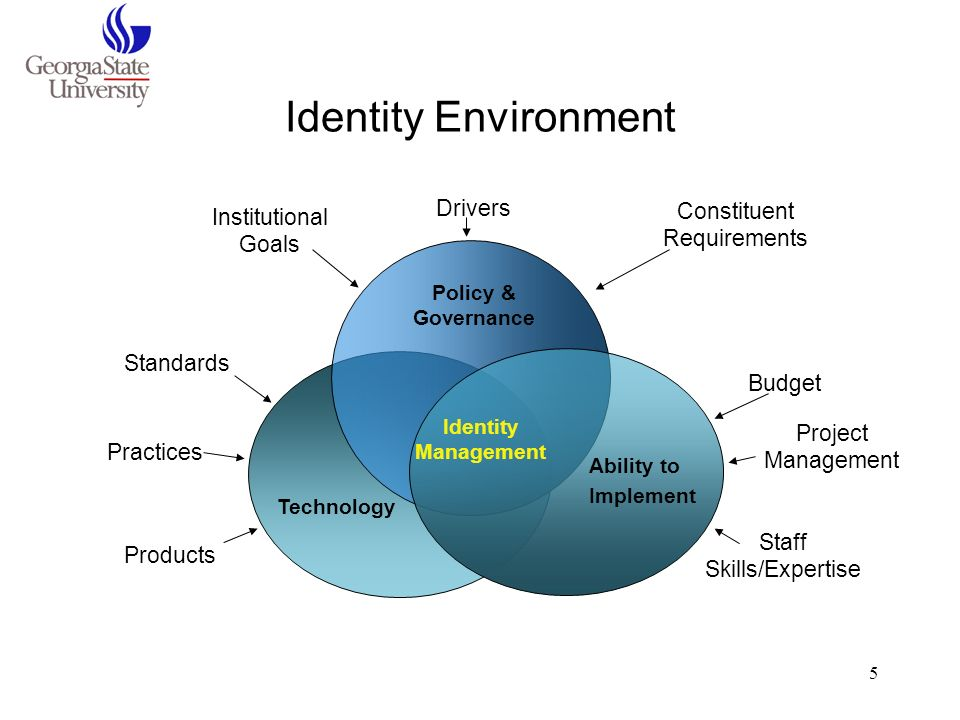 Identity Environment Drivers Constituent Requirements