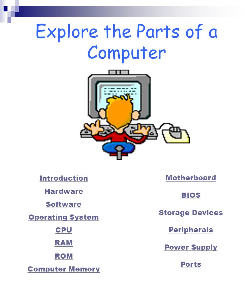 Explore the Parts of a Computer