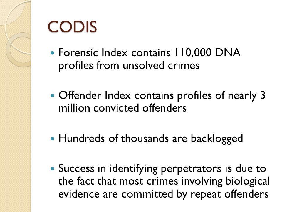 4 CODIS Forensic ...