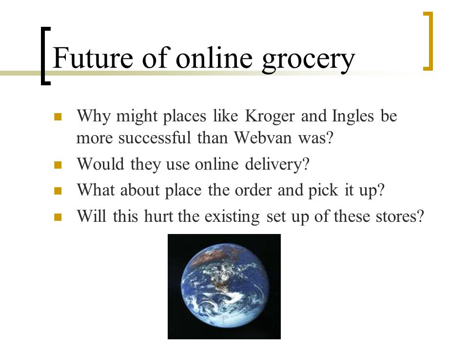 Future of online grocery