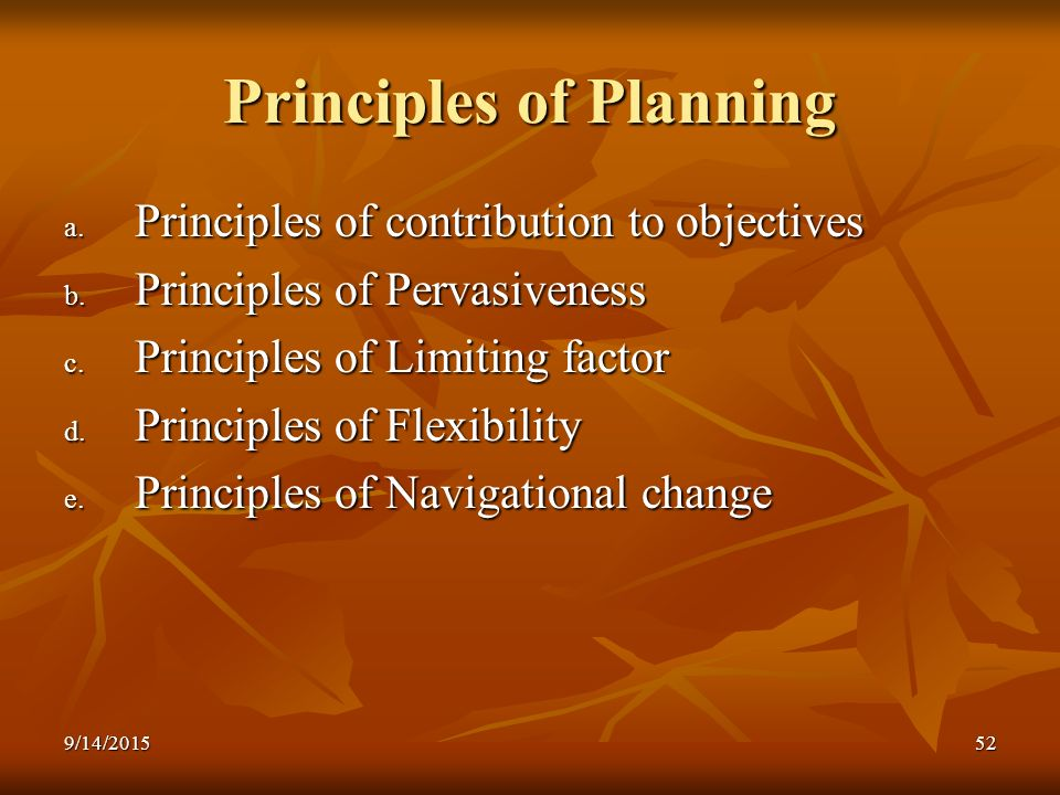 principles of planning Based on the collected wisdom of twenty years in the it world, this is a collection of advice and guidance for developers who struggle to plan and execute on projects.