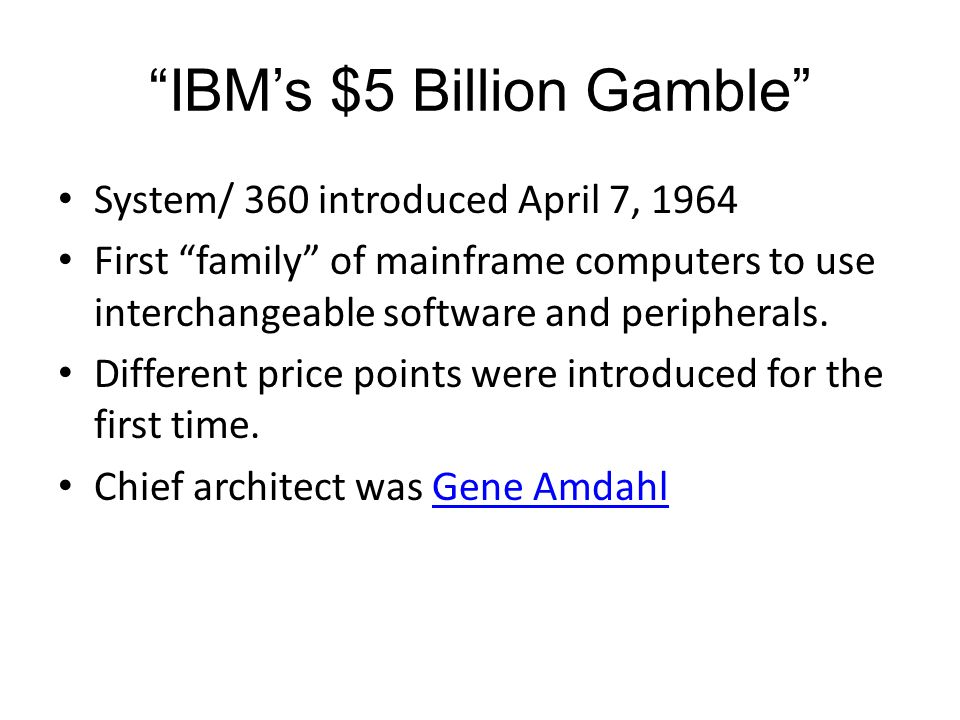 IBM's $5 Billion Gamble