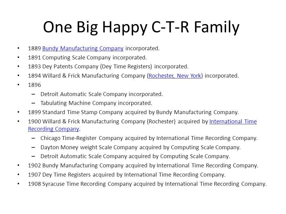 One Big Happy C-T-R Family