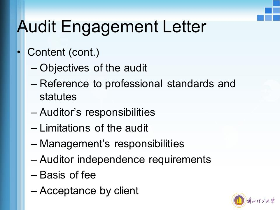 Audit Objectives Planning The Audit