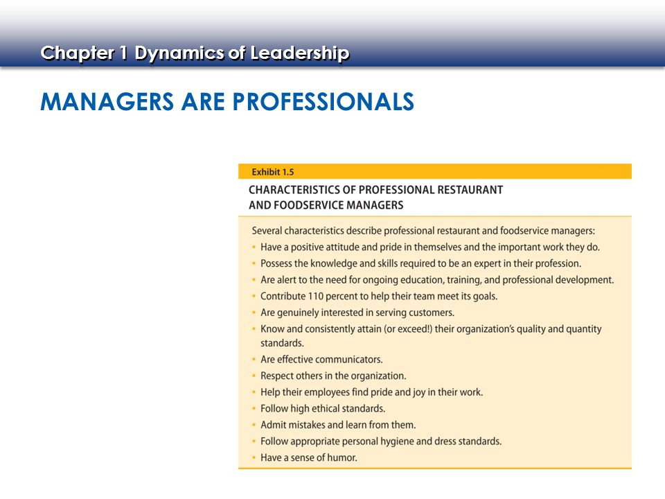 Managers Are Professionals