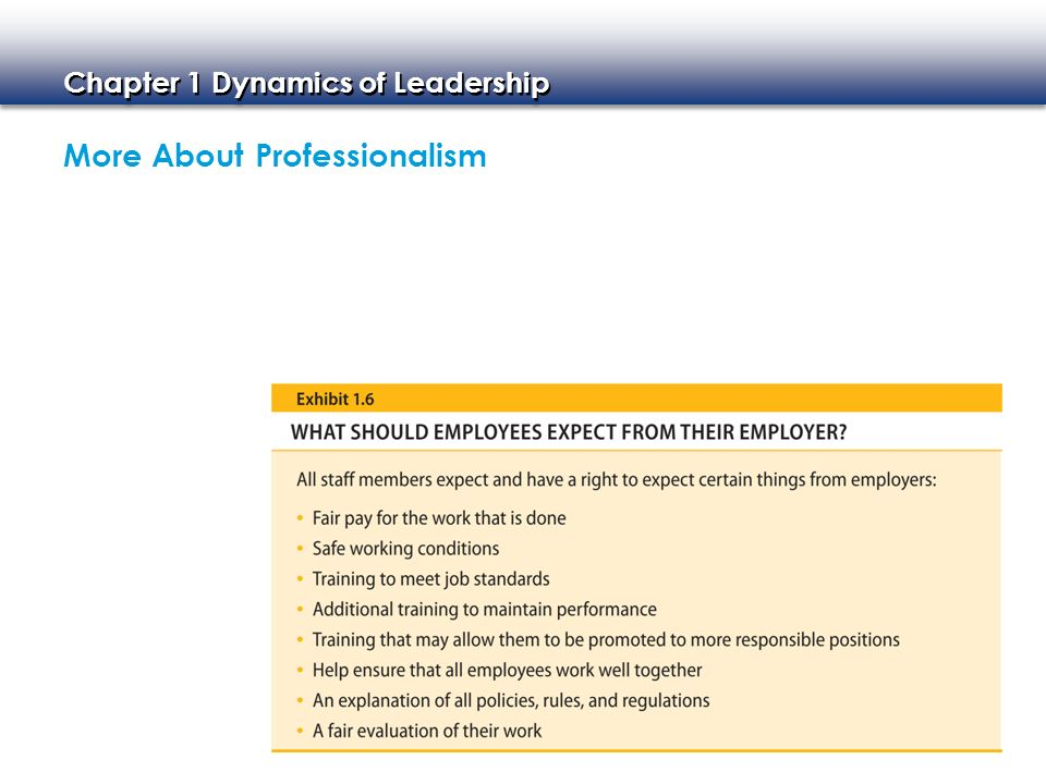 More About Professionalism