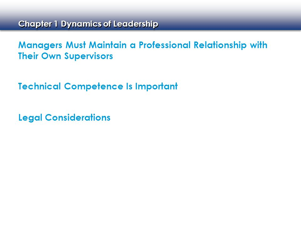Managers Must Maintain a Professional Relationship with