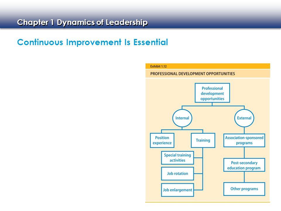 Continuous Improvement Is Essential