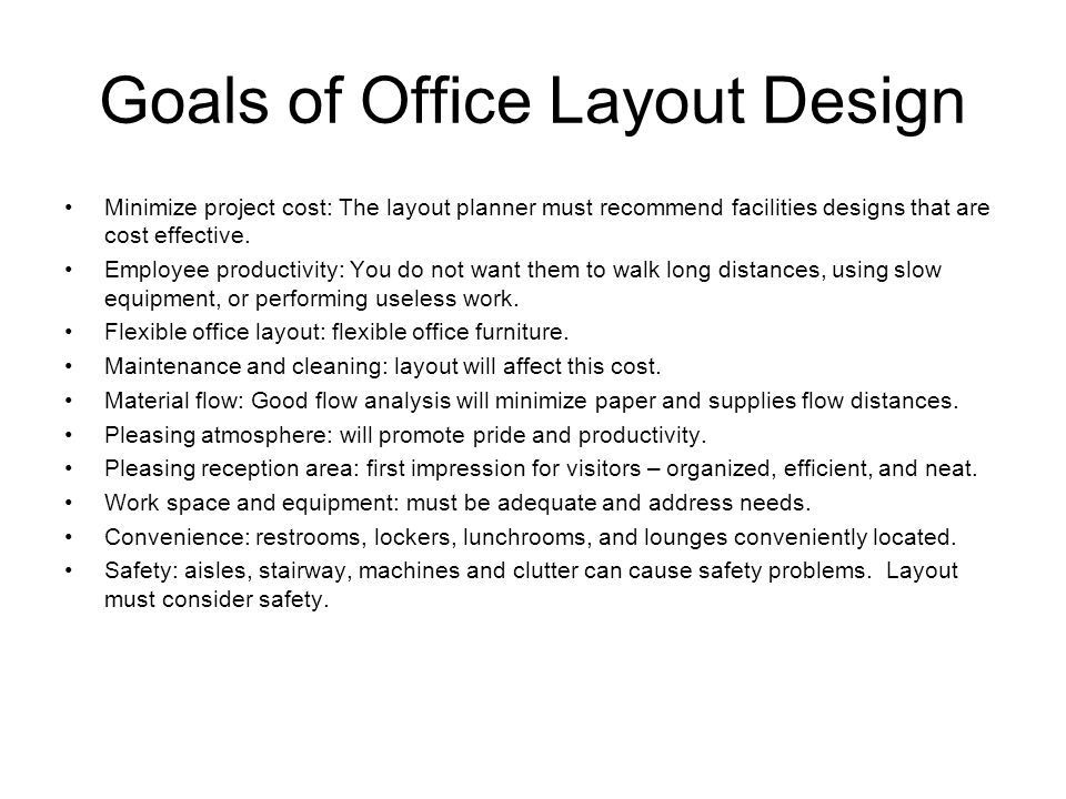 Office layout techniques and space requirements ppt for Office design requirements