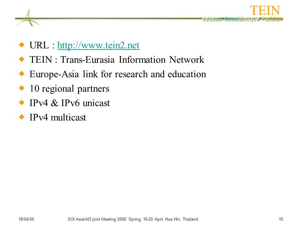 TEIN URL : http://www.tein2.net