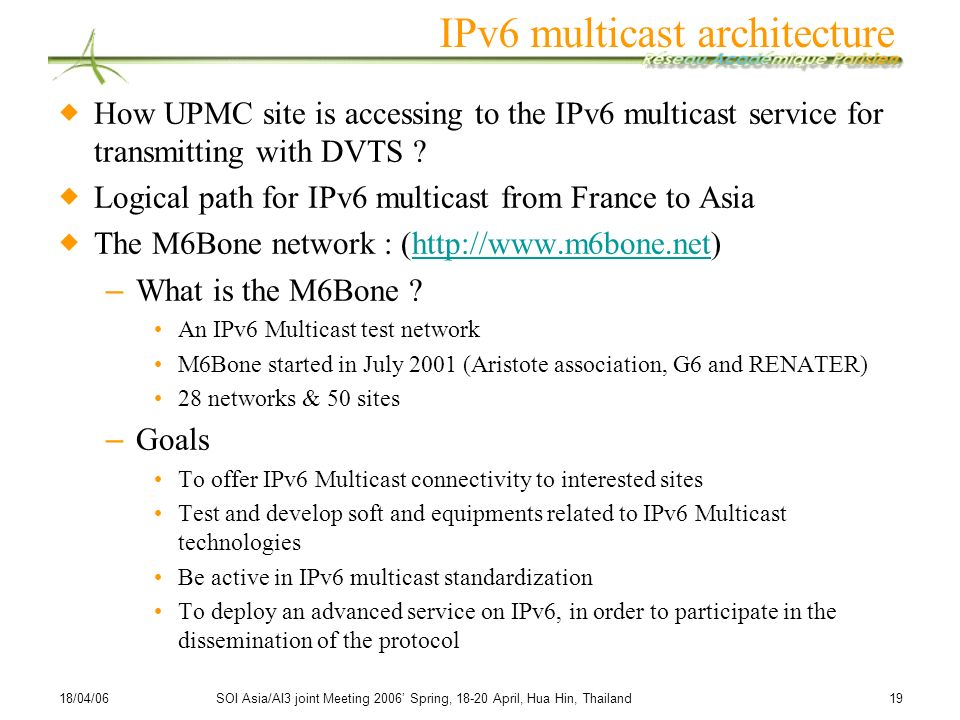 IPv6 multicast architecture