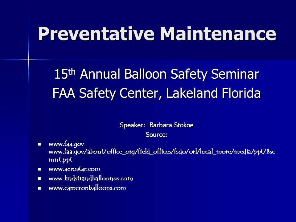 preventive maintenance essays Why preventive care is important guidelines for maintaining your health screening: children ages 0-18 years age screening test frequency newborn.