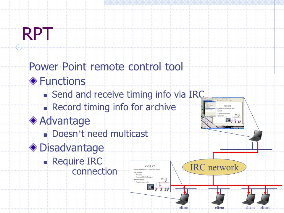 RPT Power Point remote control tool Functions Advantage Disadvantage