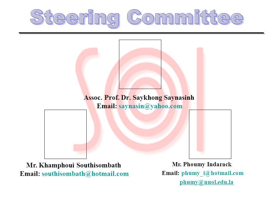 Assoc. Prof. Dr. Saykhong Saynasinh Mr. Khamphoui Southisombath