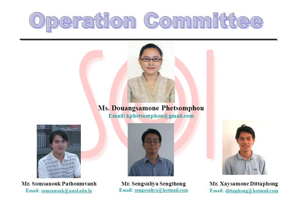 Operation Committee Ms. Douangsamone Phetsomphou