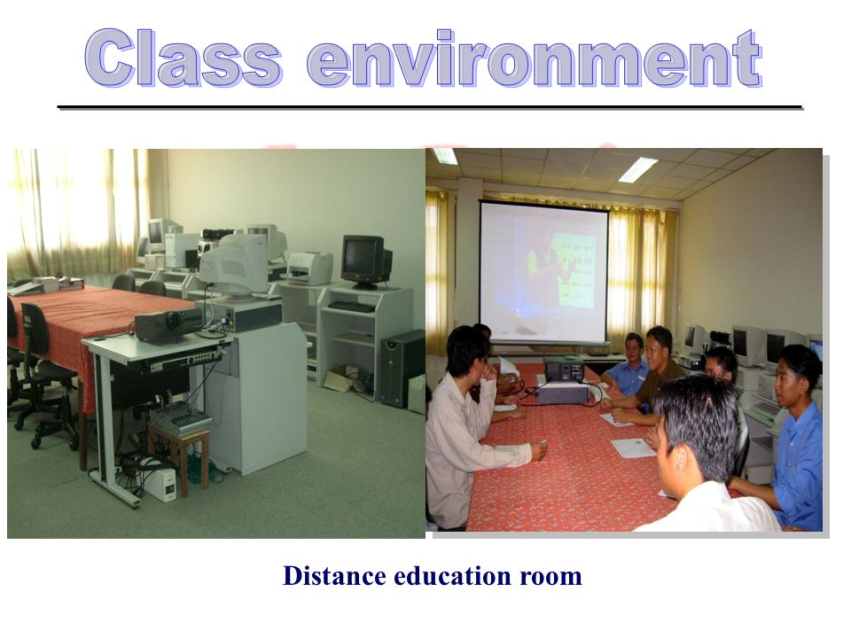 Distance education room
