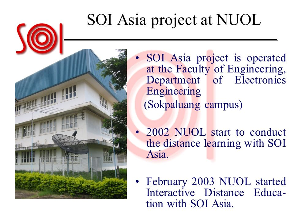 SOI Asia project at NUOL