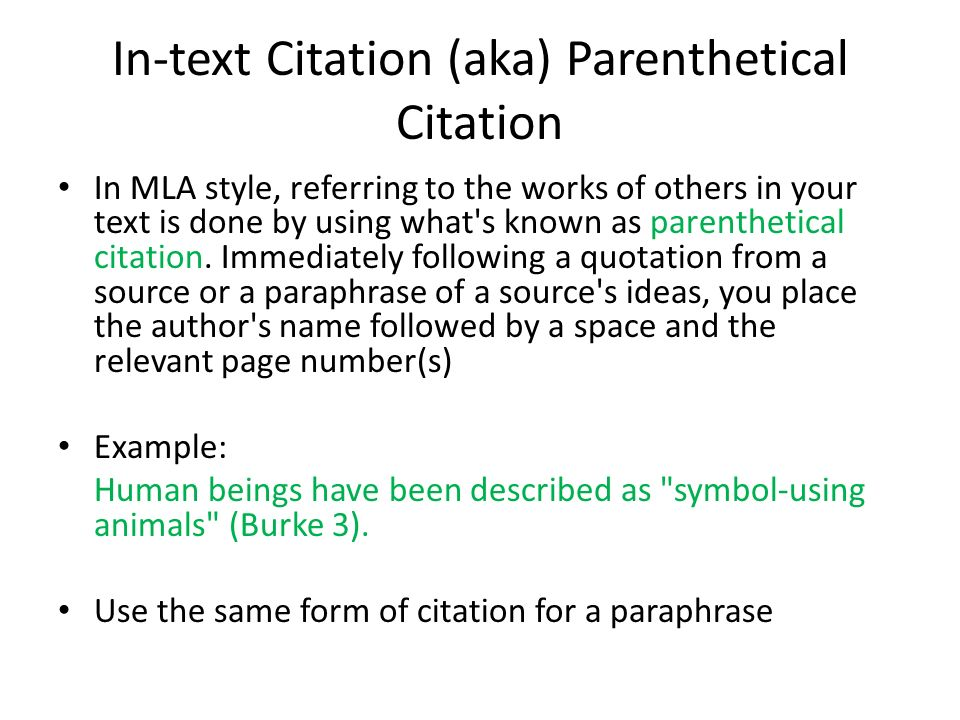 Paraphrase and cite information from a source