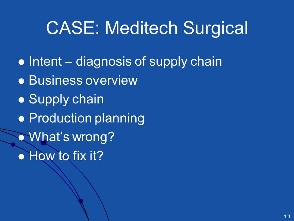 meditech surgical case essay With over 55,000 free college essays we have the writing help you need meditech surgical case study, operations management case study meditech surgical.