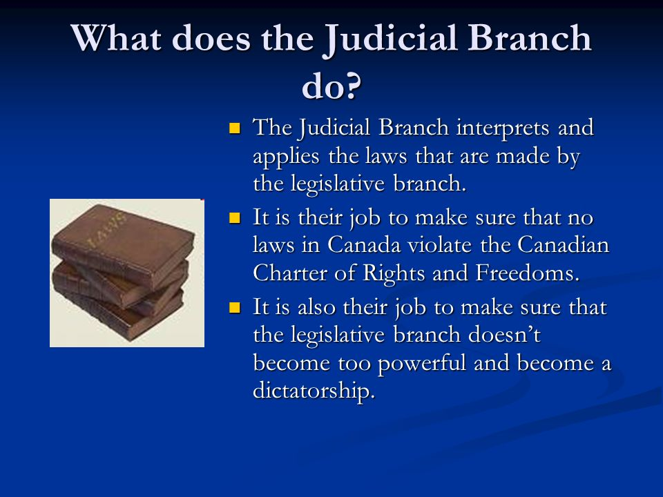 What does the Judicial Branch do