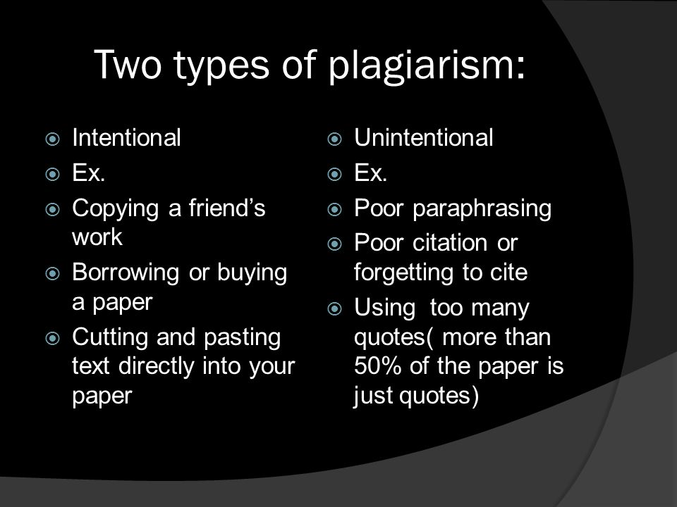 kinds of plagiarism found in essays Full information can be found on the unc honor system page  you make  these distinctions in a written paper by citing the sources for your building block  ideas  given any indication of the number or kind of source materials expected.