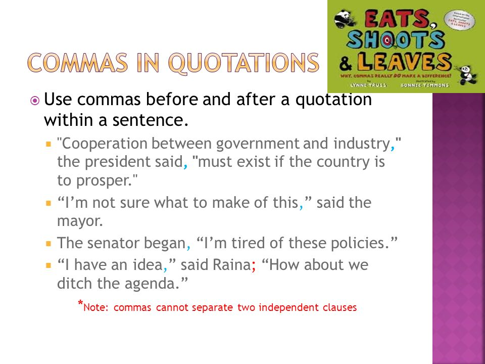how to write quotations in a sentence