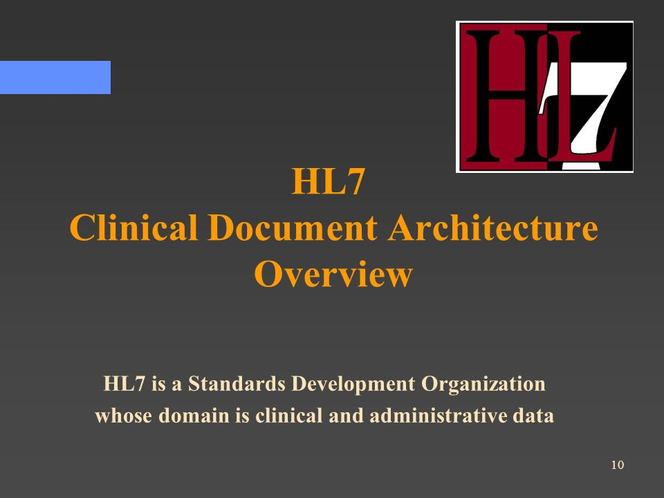 HL7 Clinical Document Architecture Overview