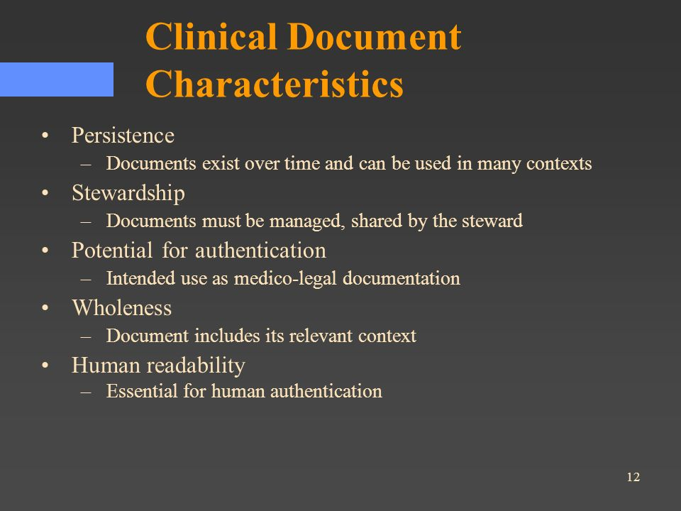 Clinical Document Characteristics